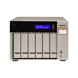 QNAP TVS-673e-8G AMD RX-421BD 2.1GHz 8GB 6-lemezes arany NAS szerver