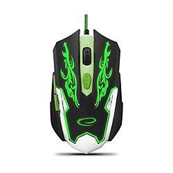 Esperanza EGM405 CYBORG USB fekete/zöld vezetékes gamer egér