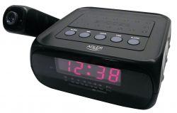 Adler AD1120 AM / FM tuner, LED fekete ébresztőóra rádióval és projektorral