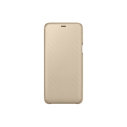 Samsung Galaxy A6+ (2018) EF-WA605CFEGWW Wallet műanyag arany flip tok