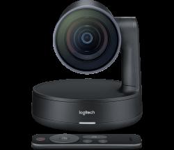 Logitech Rally Full HD 60 fps USB 3.0 fekete webkamera