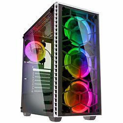 Kolink Observatory RGB ATX edzett üveg fehér számítógépház