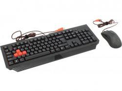 A4-Tech B1500 (B110+V9c) fekete gamer billentyűzet + egér