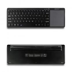 Qoltec 50250 | 2.4GHz |vezeték nélküli + touchpad fekete TV billentyűzet