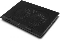 Ewent EW1253 fekete notebook hűtő