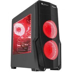 Natec Genesis TITAN 800 USB 3.0 piros számítógép ház