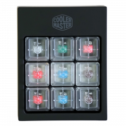 Cooler Master SGK-1020-BBCA1 többszínű mechanikus billentyűzet kulcskapcsoló teszter