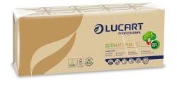 """LUCART """"EcoNatural"""" 10x9 db 4 rétegű barna színű papír zsebkendő"""