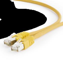 Gembird FTP LSZH kat.6A 5m sárga RJ45 patch kábel