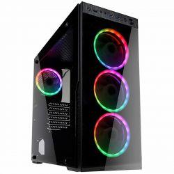 Kolink Horizon RGB ATX edzett üveg fekete számítógépház