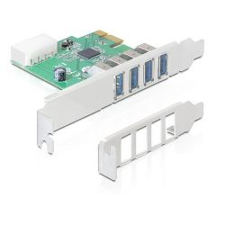 Delock 4 portos USB 3.0 PCI-E kártya
