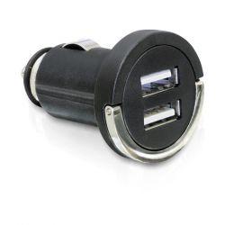 Delock 61958 2xUSB 12V-24V 5 V/2100 mA fekete autós töltő