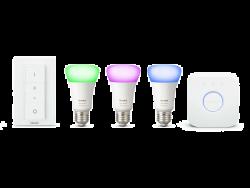 Philips Hue White and Color Ambiance 10W / 60W A19 E27 2000–6500 K 3db fehér-színes szabályozható LED izzó szett + kapcsoló