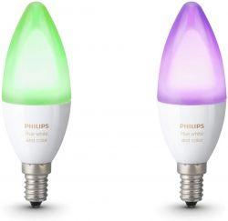 Philips Hue White and Color Ambiance 6.5W / 40W  E14 2200-6500K 2 db fehér-színes szabályozható LED fényforrás