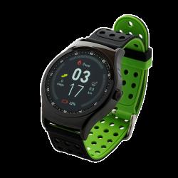 "Denver SW-450 3,3"" Bluetooth beépített pulzusmérővel fekete/zöld okosóra"