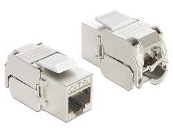 Delock RJ45 jack > LSA Cat.6 STP keystone modul