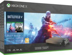 Microsoft Xbox One X - 1TB Battlefield V Gold Rush Special Edition Bundle játékkonzol