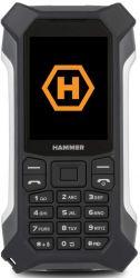 """myPhone Hammer Patriot+ 2,4"""" 128MB Dual SIM 3G ezüst-fekete csepp-, por- és ütésálló mobiltelefon"""