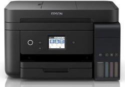 Epson EcoTank L6190 A4, 4800x1200 DPI,33 lap/perc, duplex, ADF, USB/LAN/Wifi fekete színes multifunkcionális nyomtató
