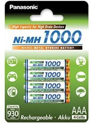 Panasonic Ni-MH 1000 High Capacity AAA 930mAh (4 db) Újratölthető elem