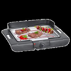 Bomann BQ 2243 CB 2400 W, 355 x 245 mm fekete elektromos asztali grill