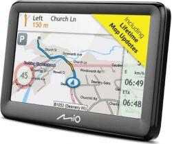 """Mio Pilot 15 LM 5"""" teljes Európa GPS fekete autós navigáció"""