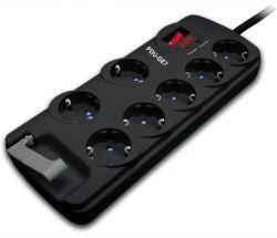 AEG PDU-GE7 5+2 AC 230V fekete túlfeszültségvédő