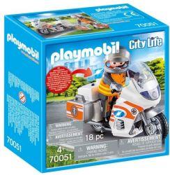 Playmobil® (70051) City Life Mentőorvos motorkerékpárral