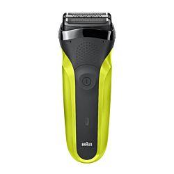 Braun Series 3 300s akkumulátor, 3 vágóegység fekete-zöld férfi borotva