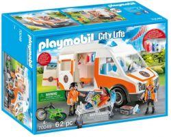 Playmobil® (70049) City Life Mentőautó villogó fényekkel