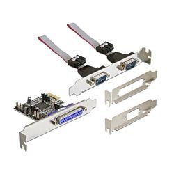 Delock 2 portos soros + 1 portos párhuzamos PCI-E kártya