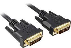 PremiumCord kpdvi2-3 2x DVI-D apa-apa 3 m fekete kábel