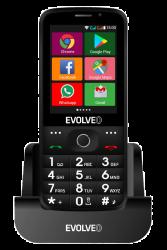 "Evolveo Easyphone AD 2.8"" 4GB Dual SIM 3G/UMTS fekete hagyományos mobiltelefon"
