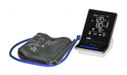 Braun ExactFit 3 XL kijelző, 2 mandzsetta szürke-fekete felkaros vérnyomásmérő