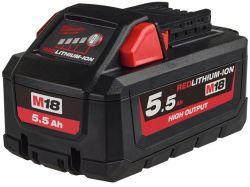 Milwaukee M18 HB5 18 V 5.5 Ah REDlithium-Ion fekete-piros akkumulátor