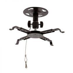 4World dönthető/forgatható 12,5 cm fekete Projektor mennyezeti konzol