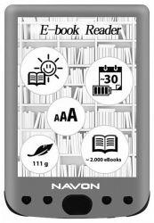 "Navon Bigbook Backlight 6"" 8GB szürke e-book olvasó"
