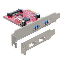 Delock 89277 2 portos USB 3.0 PCI-E kártya