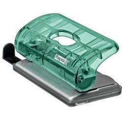 Rapid Colour Ice 10 lapos kétlyukú zöld mini lyukasztó