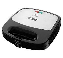 Russell Hobbs 24540-56 Fiesta 750 W, LED, 3 az 1-ben fekete-inox szendvicssütő