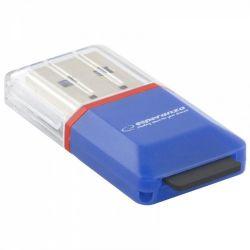 Esperanza EA134B USB2.0 microSD kék kártyaolvasó