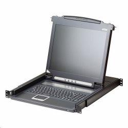 ATEN konsola KVM LCD 17'' + klawiatura + touchpad 19'' 1U (KVM, Video switch)