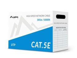 Lanberg UTP, CCA, cat. 5e, 305m, szürke hálózati kábel