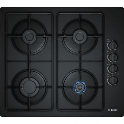 Bosch POP6B6B80 5700W 4-zónás fekete beépíthető gáz főzőlap