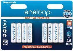 Panasonic Eneloop AA 1900mAh NIMH (8 db) Újratölthető elem