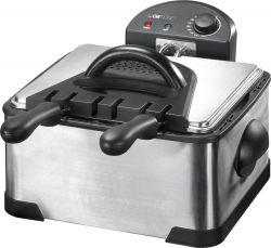 Clatronic FR 3195 4 L, 2000 W fekete-inox dupla olajsütő