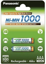 Panasonic Ni-MH 1000 High Capacity AAA 930mAh (2 db) Újratölthető elem