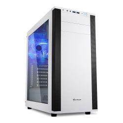 Sharkoon M25-W ATX Midi (7.1 hangkártyával) Ablakos fehér Gaming számítógép ház
