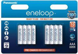 Panasonic Eneloop AAA 750mAh NIMH (8 db) Újratölthető elem