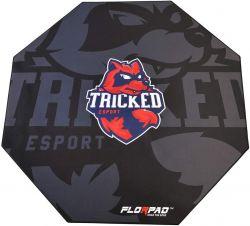 Florpad Tricked 120x120x0,4 cm fekete gamer szőnyeg